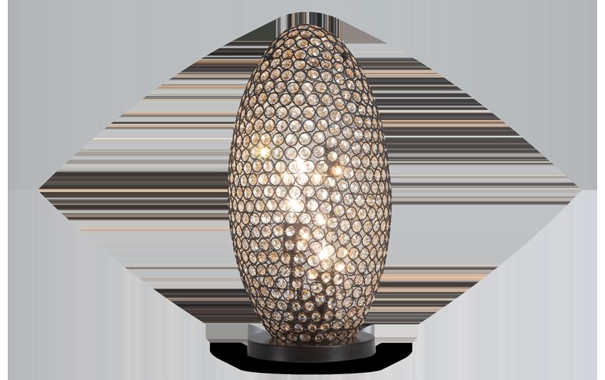 Gleam Crystal Bronze Orb Lamp