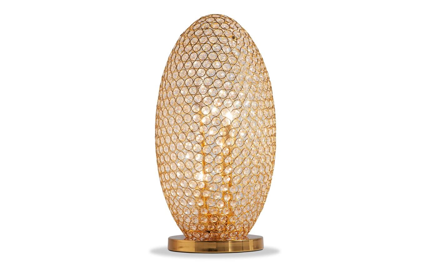 Shimmer Crystal Gold Orb Lamp