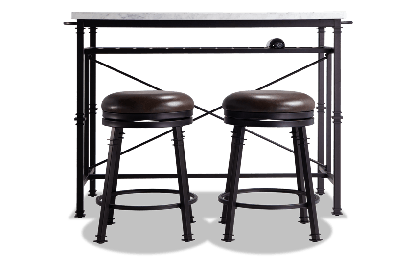 Martini 3 Piece Table and Counter Stools