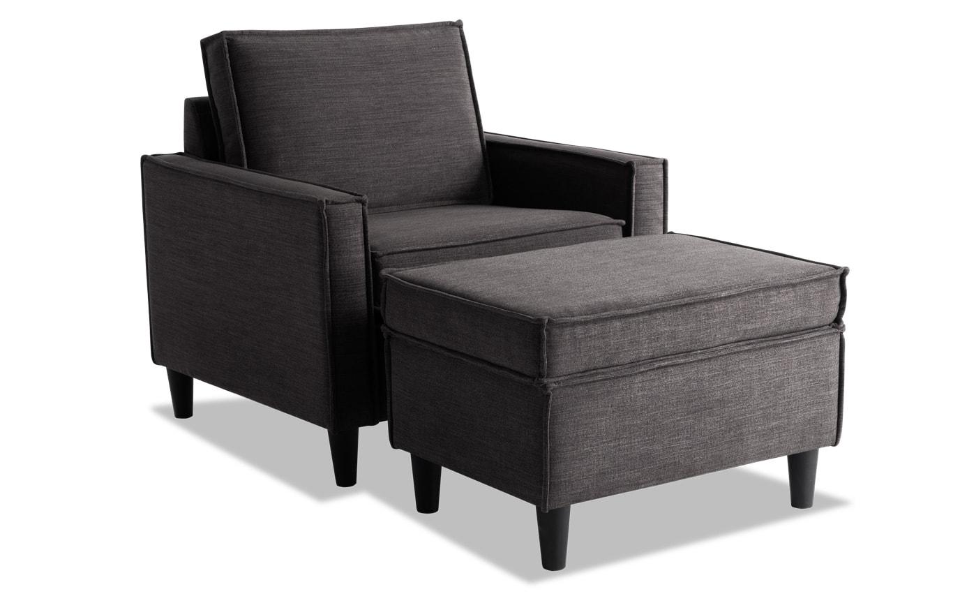 Jamie Sofa, Chair & Storage Ottoman
