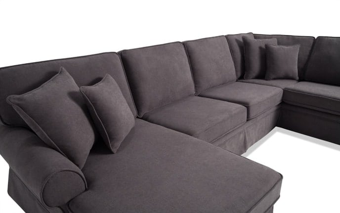Katie 4 Piece Right Arm Facing Bob O Pedic Gel Sleeper Sectional