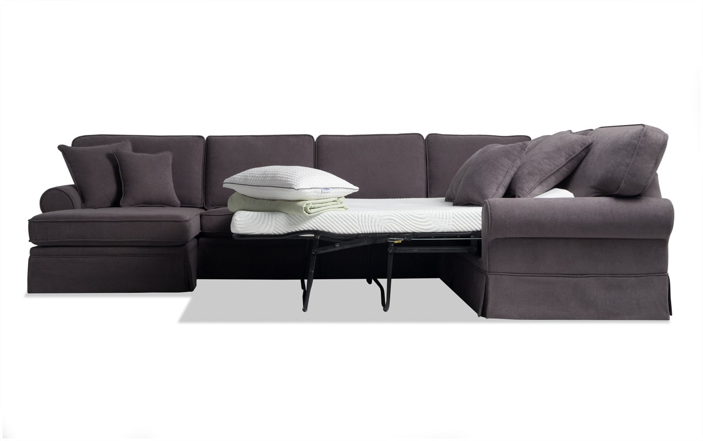 Katie 4 Piece Right Arm Facing Bob-O-Pedic Gel Sleeper Sectional