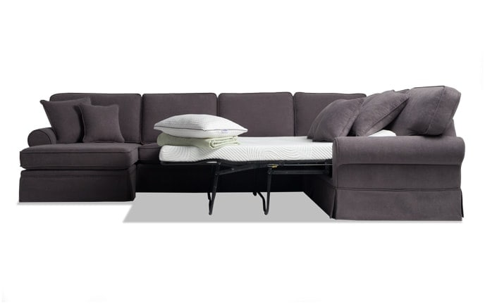 Charmant Katie 4 Piece Right Arm Facing Bob O Pedic Gel Sleeper Sectional