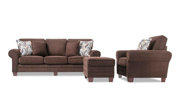 Gracie Sofa, Chair & Storage Ottoman