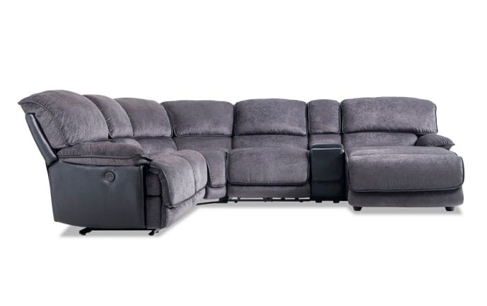 Dawson 6 Piece Power Reclining Left Arm Facing Sectional