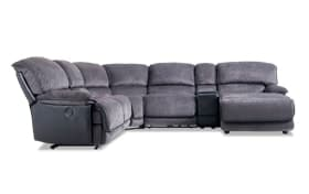Dawson Gray 6 Piece Power Reclining Left Arm Facing Sectional