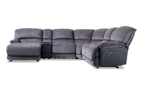 Dawson Gray 6 Piece Power Reclining Right Arm Facing Sectional