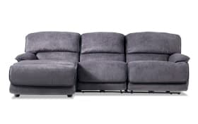 Dawson Gray 3 Piece Power Reclining Right Arm Facing Sectional