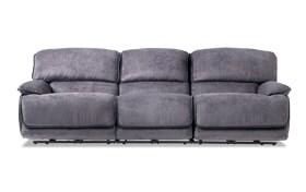 Dawson Gray Dual Power Reclining Sofa