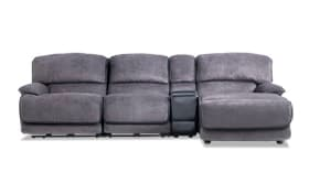 Dawson Gray 4 Piece Power Reclining Left Arm Facing Console Sectional