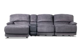 Dawson Gray 4 Piece Power Reclining Right Arm Facing Console Sectional