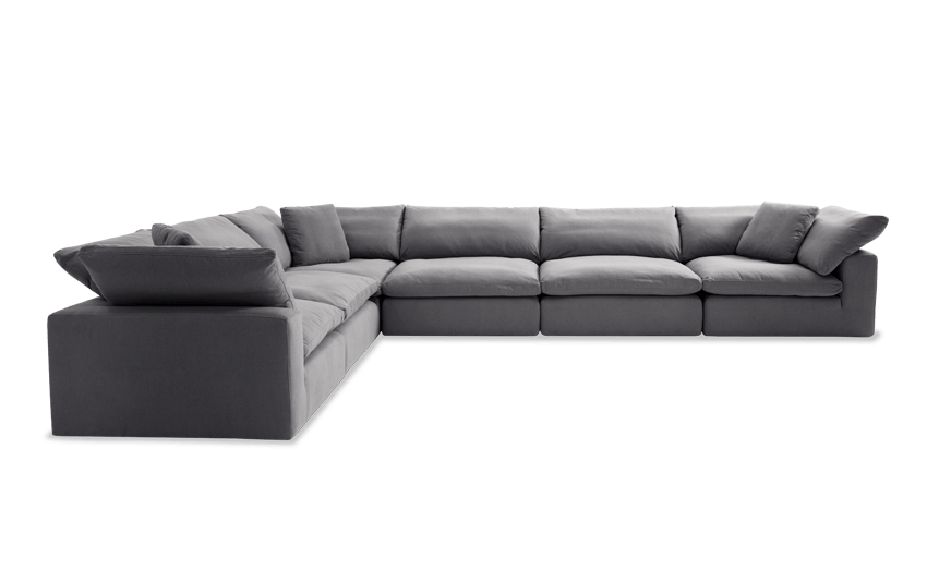 Dream Gray Modular 6 Piece Sectional Bobs Com