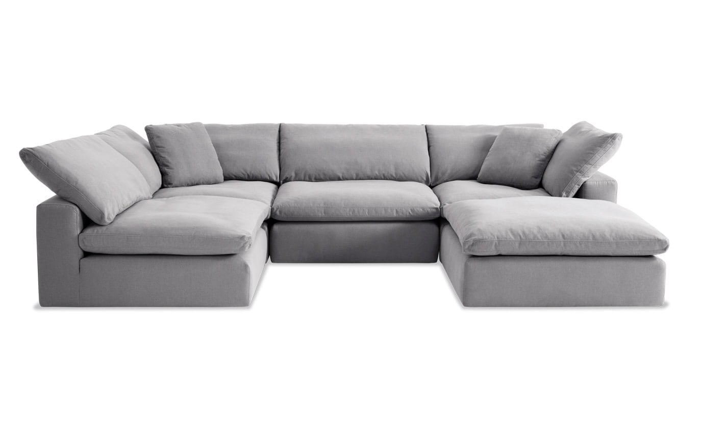 Dream Gray Modular 5 Piece Sectional Bobs Com