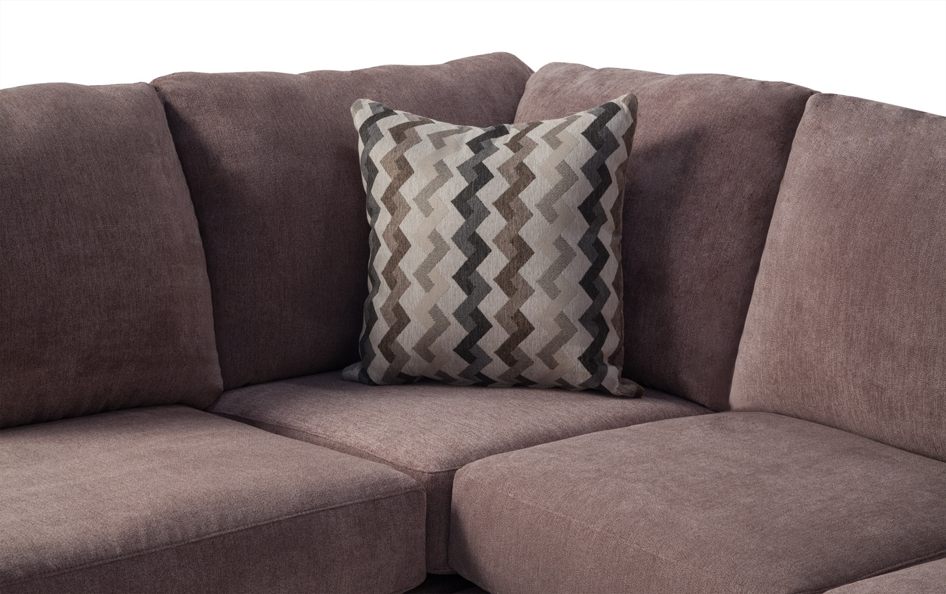 Virgo Brown 2 Piece Right Arm Facing Sectional