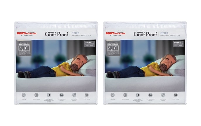 Set of 2 Fitted Mattress Protectors