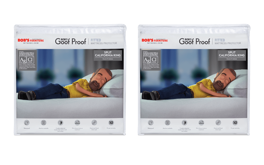 Set of 2 Dual California King Fitted Mattress Protectors