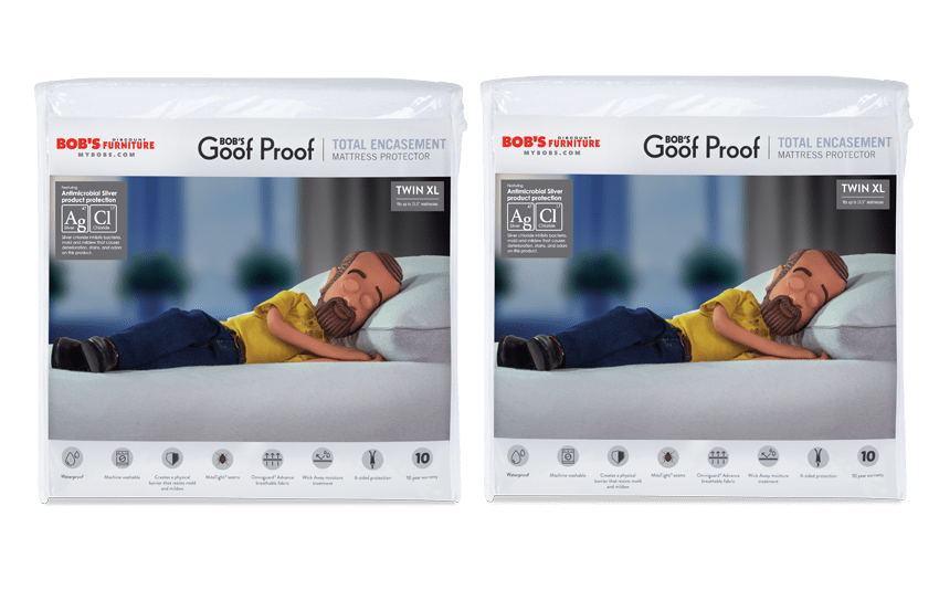 Set of 2 Twin XL Total Encasement Mattress Protectors