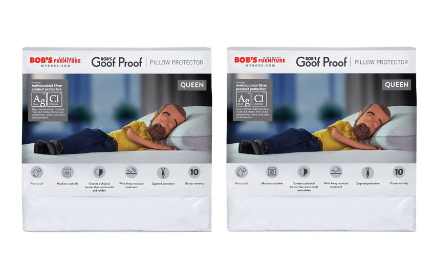 Set of 2 Queen Pillow Protectors