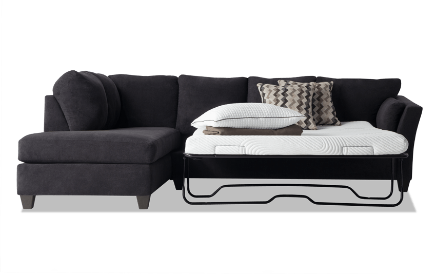 Virgo 2 Piece Right Arm Facing Queen Bob-O-Pedic Gel Sleeper Sectional