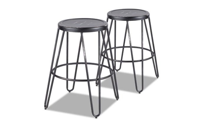 Set of 2 Averi Metal Counter Stools