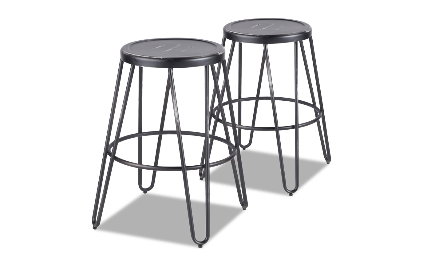 Averi Metal Counter Stool Set of 2