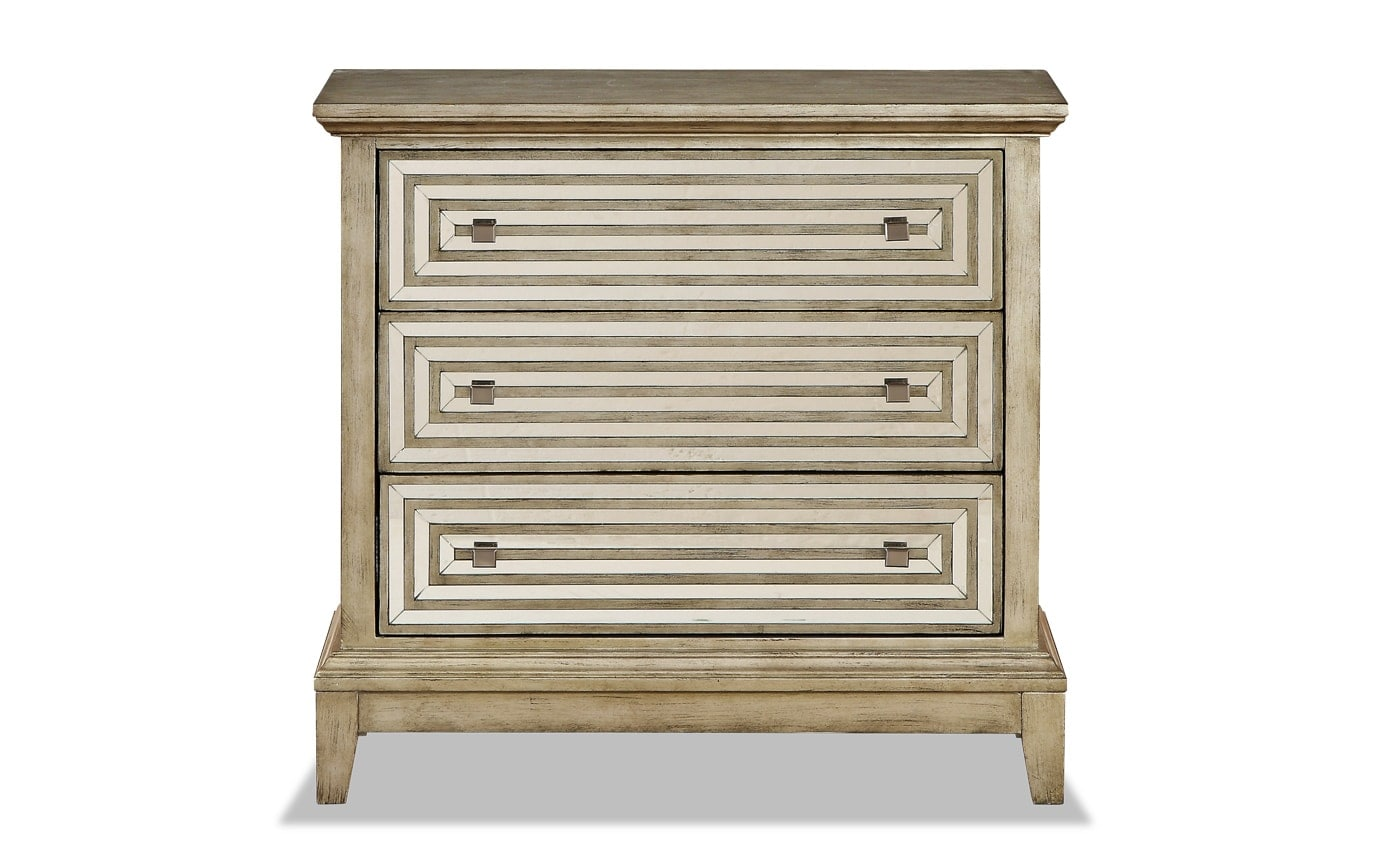Metallic Three Drawer Chest
