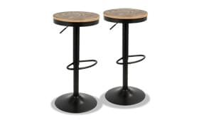 Denver Adjustable Bar Stool Set Of 2 Bob S Discount Furniture