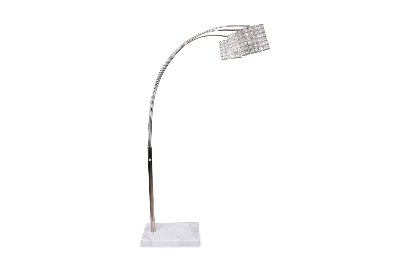 Allure Crystal Arc Floor Lamp