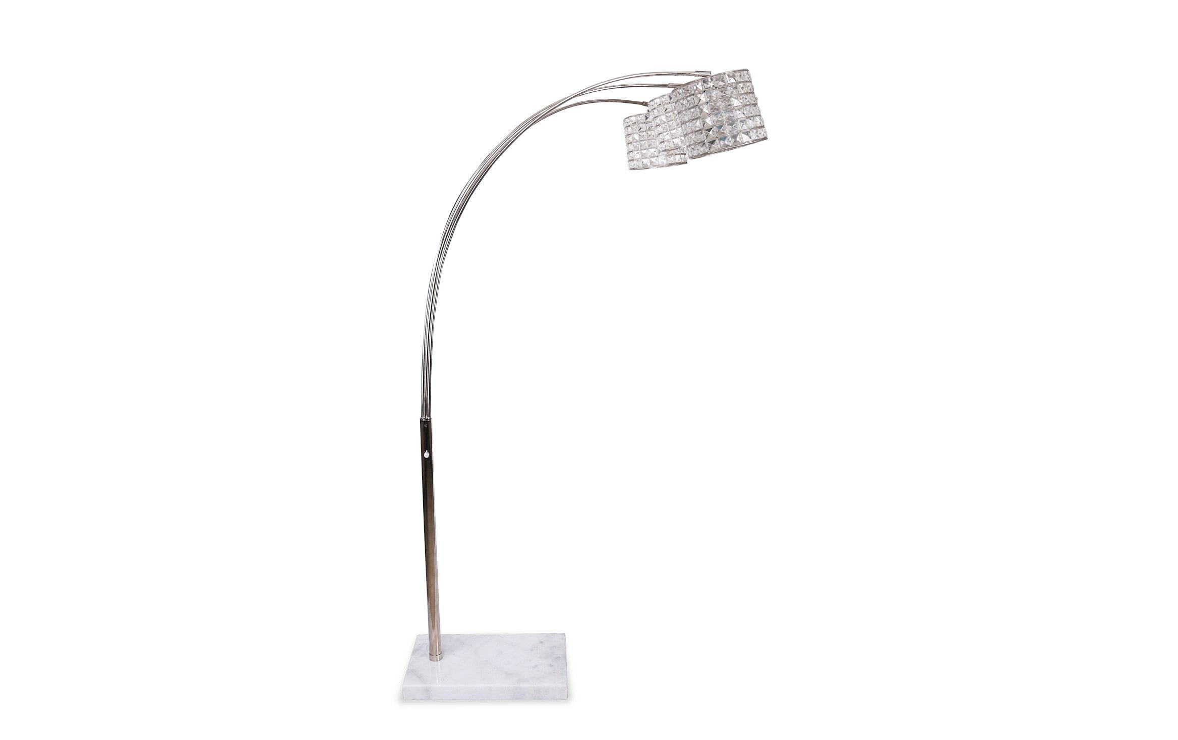 Allure Crystal Arc Floor Lamp Bobs