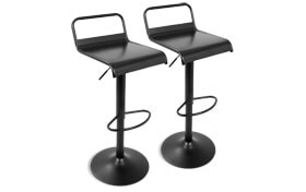 Set of 2 Claude Adjustable Bar Stools