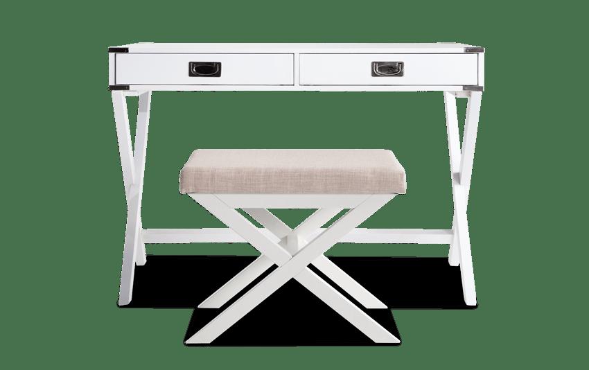 Mason White Desk and Stool