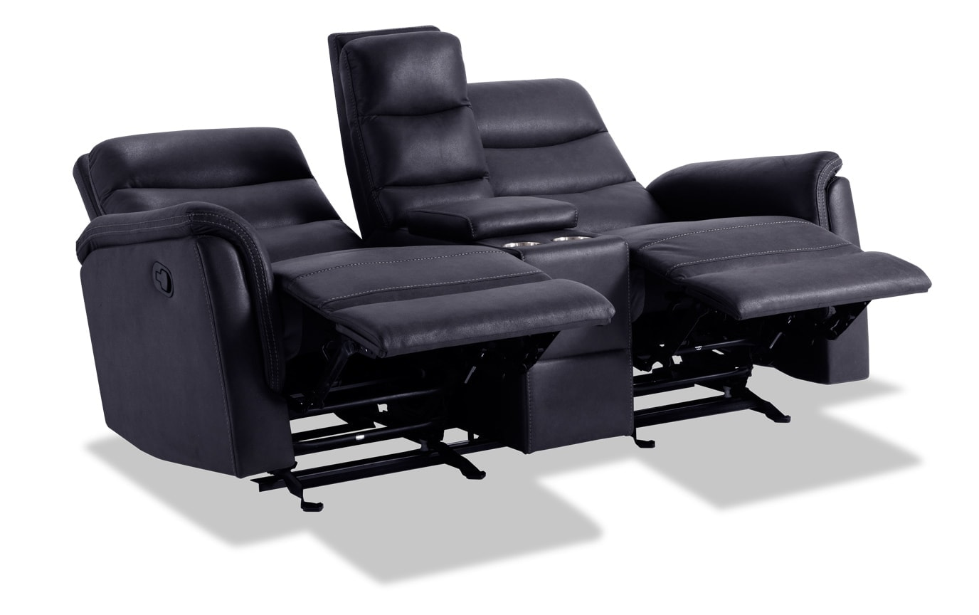 Forte Manual Reclining Console Loveseat