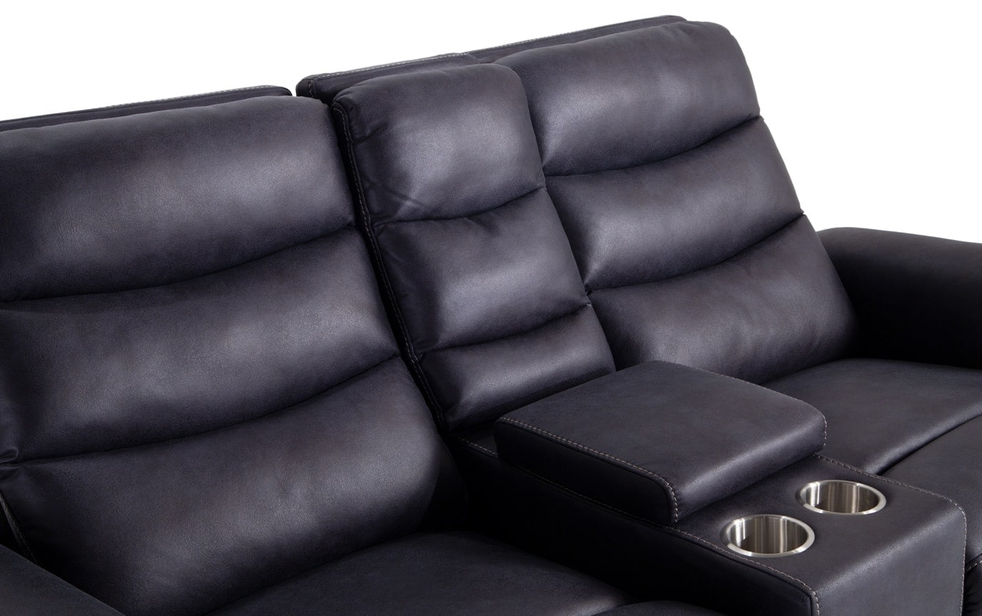 Forte Power Reclining Console Loveseat