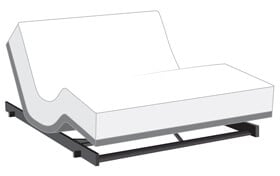 Power Bob Low Rider with Bob-O-Pedic Eclipse Hybrid Mattress
