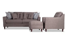 Jaxon Sofa, Chair & Storage Ottoman