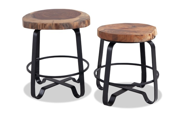 Teak Top Nesting Tables