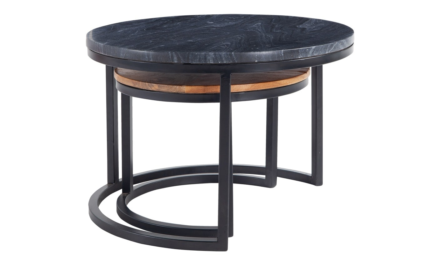 Marble & Wood Nesting Tables