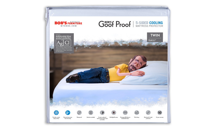 Twin 5-Sided Cooling Mattress Protector