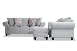 Artisan Blue Sofa, Chair & Storage Ottoman