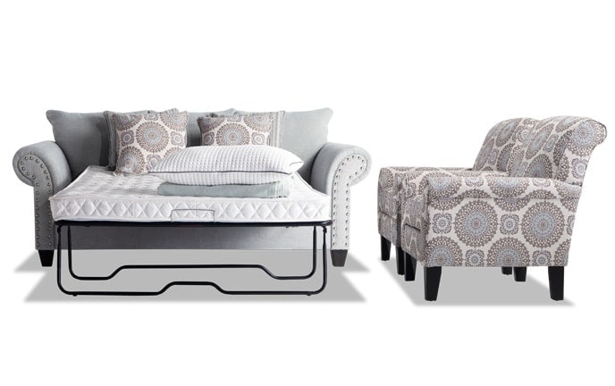 Artisan Full Innerspring Sleeper & 2 Accent Chairs
