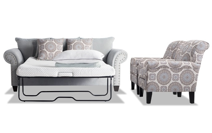 Artisan Full Bob-O-Pedic Sleeper & 2 Accent Chairs