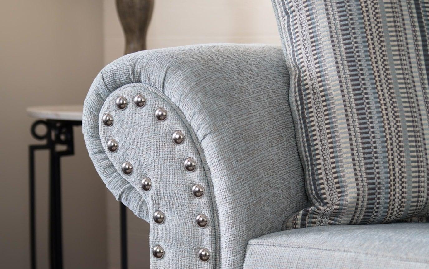 Artisan Blue Bob-O-Pedic Full Sleeper Sofa & 2 Chairs