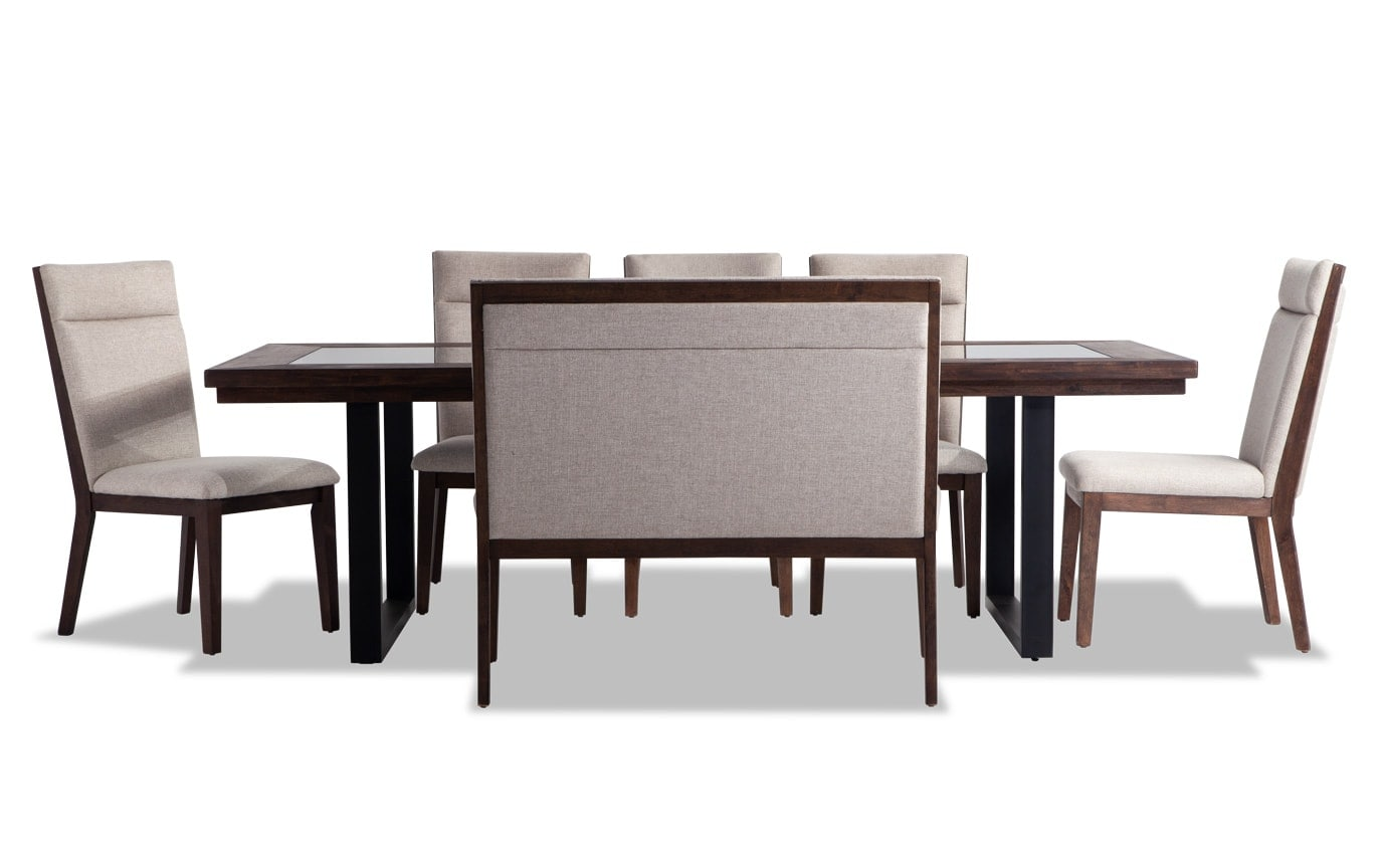 Catalina 7 Piece Dining Set with Bench