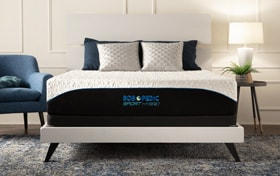 Bob-O-Pedic Sport Hybrid King Plush Low Profile Mattress Set