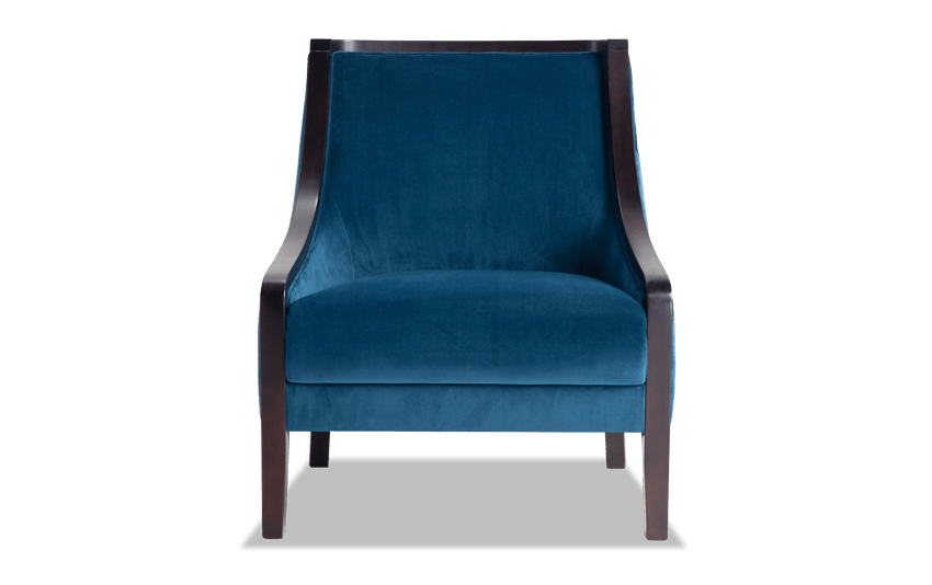 Pate Blue Accent Chair