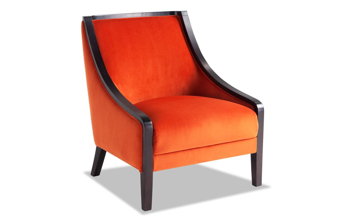 Pate Orange Accent Chair
