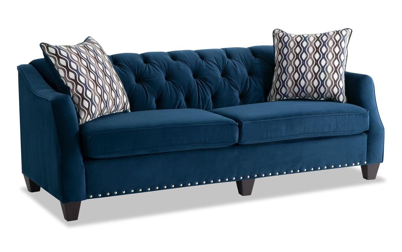 Marley Navy Sofa