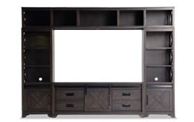 Montana Brown 4-pc. Wall Unit w/ 55'' TV Console