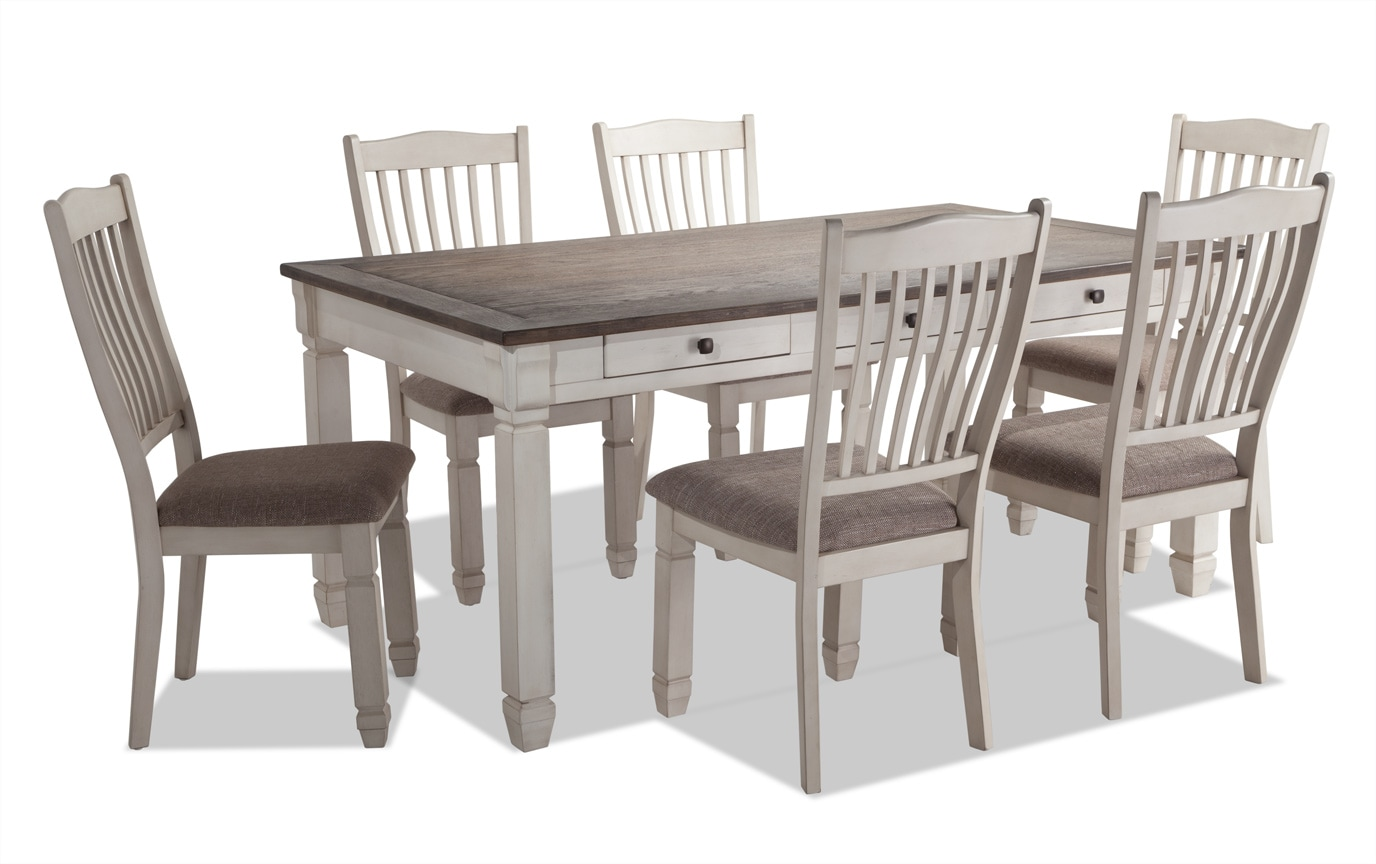 Savannah 7 Piece Dining Set Bobs Com