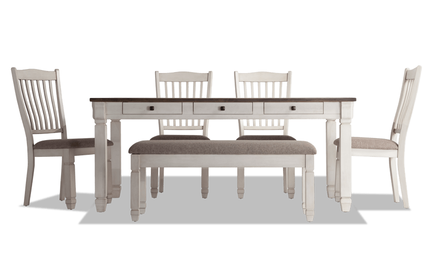 Savannah 6 Piece Dining Set With Storage Bench